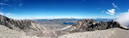Mt St Helens Summit - Panorama