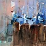 """WP-003 Sea Birds"" by cneartgallery"