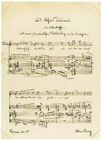 Berg, Alban FINE LARGE AUTOGRAPH MUSICAL
