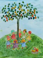 Children Playing Under the Tree