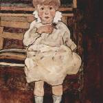 """""""Egon Schiele,  (1890-1918),  Seated child"""" by motionage"""