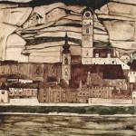 """Egon Schiele Landscapes 8"" by motionage"