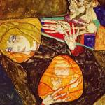 """Egon Schiele The Holy Family 1913"" by motionage"