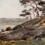 """BERNDT LINDHOLM (1841-1914), CLIFFS BY THE SHORE."" by motionage"
