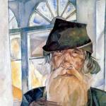 """BORIS GRIGORIEV, (1886-1939) An old man from Olone"" by motionage"
