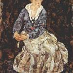 """Egon Schiele, Portrait of Edith Schiele, 1918"" by motionage"