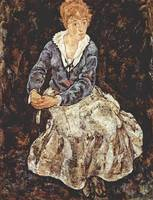 Egon Schiele, Portrait of Edith Schiele, 1918