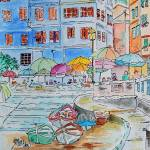 """WP-012 Street Scene of Italy"" by cneartgallery"