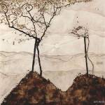 """Autumn sun and trees , Schiele Egon"" by motionage"