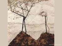 Autumn sun and trees , Schiele Egon