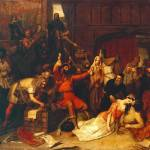 """""""Charles Landseer - The Pillaging of a Jew"""