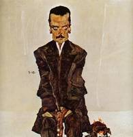 Egon Schiele,  (1890-1918),  portrait of the publi