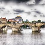 """Charles Bridge Panorama. Prague, Czech Republic"" by George_Oze"