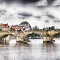 Charles Bridge Panorama. Prague, Czech Republic Art Prints & Posters by George Oze