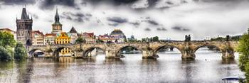 Charles Bridge Panorama. Prague, Czech Republic