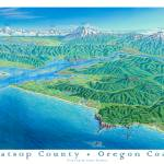 """North Oregon Coast"" by jamesniehuesmaps"
