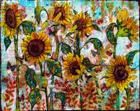 Sunflower art | Sunflower painting
