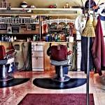 """Sig_BarbershopWithCoatRack"" by susansartgallery"