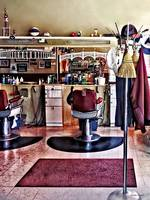 Barbershop With Coat Rack