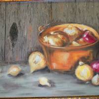 Onion art Art Prints & Posters by Linda Meaux