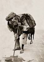 A beggar in Tehran, Iran - 1880's by Iranian photo
