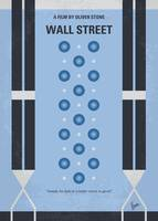 No683 My Wall street minimal movie poster