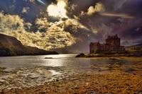 Sunset and Storm 1(Eilean Donan Castle).