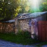 """Shed in Courtyard Vilnius"" by janesprints"