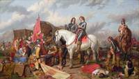 Charles Landseer - Cromwell in the Battle of Naseb