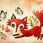 """Playful Fox"" by sandygrafik_arts"
