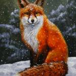 """Red Fox in Winter"" by csforest"