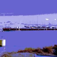 Calumet River Boatyard Art Prints & Posters by Leon Sarantos