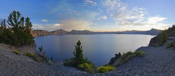 Crater Lake Sunset Panorama