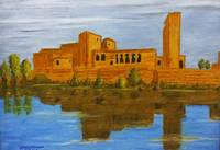 The ancient scene, Temple of Isis at Philae, Aswan