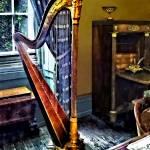 """Elegant Harp"" by susansartgallery"
