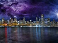 Spacey Chicago Skyline