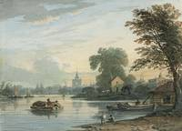 John Varley, O.W.S. (London 1778-1842)  The Thames