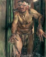 The Blinded Samson  by Lovis Corinth