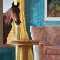 Horse at the Window Art Prints & Posters by Sheryl Karas
