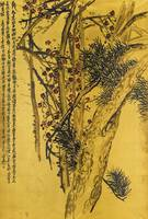 Wu Changshuo 1844-1927 PINE AND PLUM BLOSSOM
