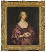 Sir Anthony van Dyck PORTRAIT OF A LADY, HALF-LENG