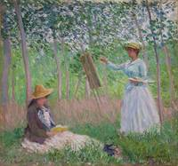 In the Woods at Giverny, Blanche Hoschedé at Her E