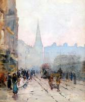 Barton, Rose Maynard - View of St Andrews Church f