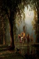 Bierstadt (Late 19th Century) Indian War Party - P