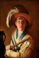 Bloemaert 1621 The flute player - PD Image