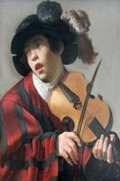 Brugghen 1625 - Singer with stringed instrument -