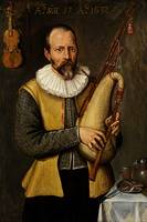 Anonymous 1632 - Musician Holding Bagpipes - PD Im