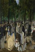 Manet 1862 Music in the Tuileries - Famous Paintin