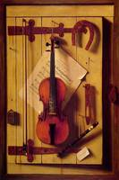 Harnett 1888 Still life Violin and Music - PD Imag