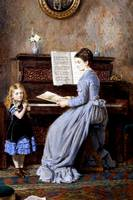 Kilburne 1871 The Piano Lesson - PD Image